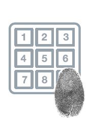 Zamek elektroniczny z odciskiem biometrycznym palca
